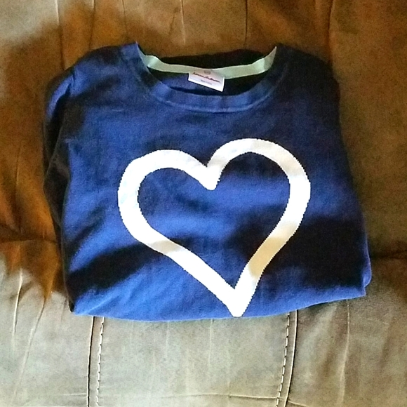 Girls navy sweater size M with a heart